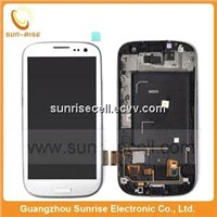 Original lcd touch screen digitizer for samsung galaxy s3 i9300 with frame