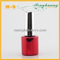 Red UV nail polish glass bottle