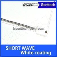 Single tube linear short wave infrared heater lamp