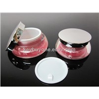 15g 30g scallop acrylic cosmetic cream jar