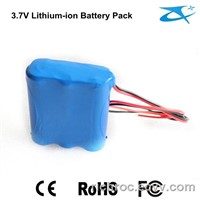 18650 rechargeable battery 3.7V/6600mAh li-ion battery pack