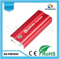2013 Top Design Colorful with Leds 5600mAh High Capacity Power Bank
