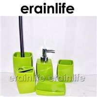 5pcs Green Polyresin bathroom set