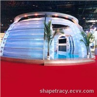 Air inflatable bubble tent