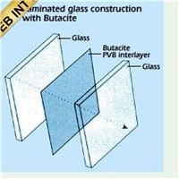 CLEAR LAMINATED GLASS for curtain walls and windows
