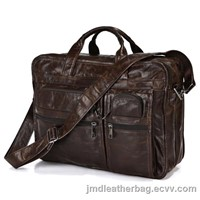 Cool Office 100% Genuine Vintage Leather Men's Chocolate Laptop Bag