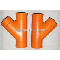 EN877 epoxy resin cast iron pipe fittings
