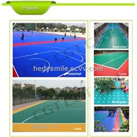 Good Quality Environment-friendly Modified PP Suspended modular badminton mat