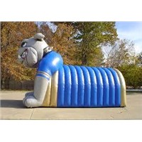 Inflatable Tunnel with a Dog Mascot for Player's Rest (XZ-TU-016)