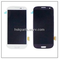 LCD display with touch screen assembly for samsung galaxy s3 i9300 blue color