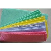 Needle punched nonwoven fabric kitchen cleaing cloth