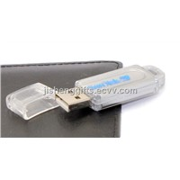Nice Clear Plastic USB Pen Stick with Keyring of 4GB 8GB 16GB