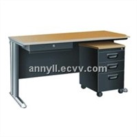 Office table with mobile cabinet