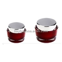 Oval Acrylic Cosmetic Jar For Cream