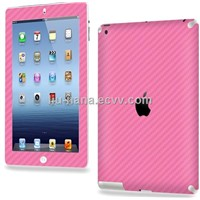 Promotion! For Ipad 2/3 carbon fiber back cover/sticker
