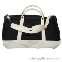 Promotional Long Handles Cotton Canvas Sport Gym Bag