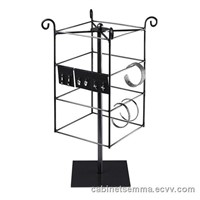 Rotating Jewelry Card Display Wire Jewelry Display Rack-Black