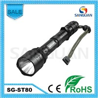 SG-ST80 1000 Lumens Rechargeable Cree T6 LED Tactical Torch With Extensible Tube
