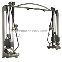 Seated Chest Press fitness equipment with Steelless weight stack
