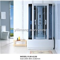 Shower Room with Aluminum Alloy Profile Blue Tempered Glass