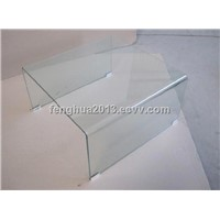 Tempered Bent Glass coffee Table for Glass Furniture