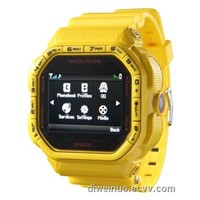Touch screen Square sport wrist mobile watch phone with bottoms
