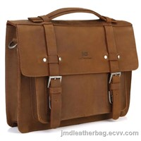 Trendy Crazy Horse Leather Laptop Handbag Messenger Bag # 7050B