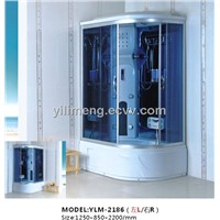 White ABS Shower Room with CHROME ALUMINIUM Alloy