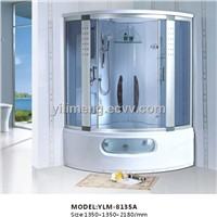 White Luxury Steam Shower Room with Reinforced Bathtub for Whole Family
