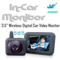 Wireless digital car baby monitor*camera,3.5 inch LCD IR night Vision Baby monitor for car