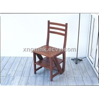 Wooden ladder chair , wooden dual chairs, wooden chairs, wooden ladders