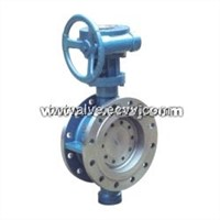 Worm Wheel Driving Flanged Metal Hard Sealing,Fluorine Plastic Sealing Eccentricity Butterfly Valve