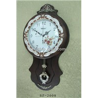 antique wall clock,wall clock with single-sided,sz-2008