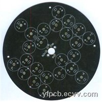 Black Soldmask Aluminum PCB with 2oz Copper Thickness