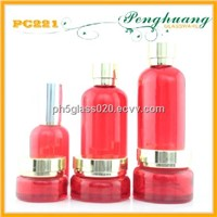 complete cosmetic glass bottles and jars