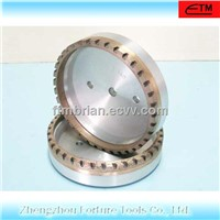 external half segmented diamond grindign wheel for glass edging machine