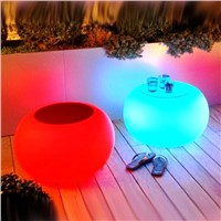 high quality pe cube colorful chair led