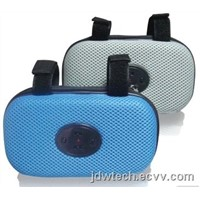new type 010-E4 protable mini speaker bag with FM for bicycle when biking you can listen to music
