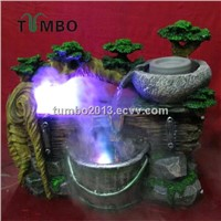 Home office decorative humidifier tabletop installation ployresin resin air mist humidifier OEM