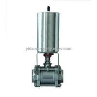 sanitary pneumatic ball valve