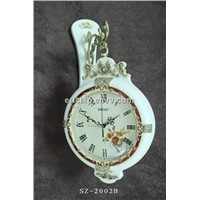 wall clock with double-sided,antique clock