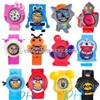 Newest design fashion cartoon silicone watches,candy colors silicone watch