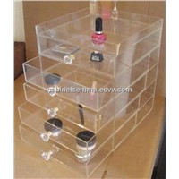 Acrylic Cosmetic Display, 5 Drawers Eyeshadow Box