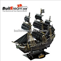 "Buildream export new toy interesting intelligent Jigsaw 3D puzzle ""The Black Pearl's Ship"