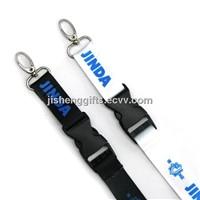 Fashion Swivel Hook with Buckle Heat Transfer Lanyard / Ribbon