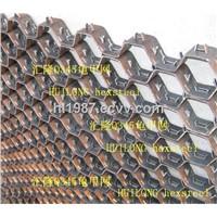 SS304 hexsteel cyclones refractory lining,hex mesh refractory flue gas lines