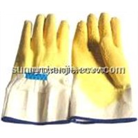 Yellow Latex coated/dipped work glove