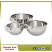 2013 new design stainless steel bowl with side handle