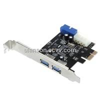 2-Port USB 3.0 PCI-E PCI Express 19-pin USB3.0 4-pin molex Connector