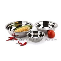 3pcs Stainless Steel Bowl Dinner Sets